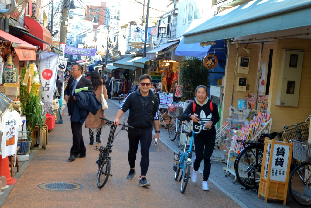 Tokyo Backstreets Bike Tour bike cycling tour Tokyo private streetfood