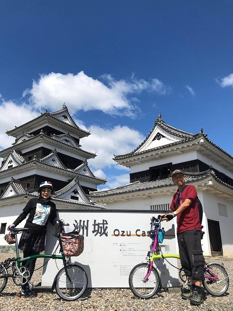 大洲 伊予大洲 四国サイクリング 四国グルメ レンタサイクル Tokyo Backstreets Bike Tour ブロンプトン Brompton